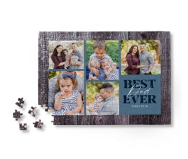 Personalize wall art with photos of you and dad.