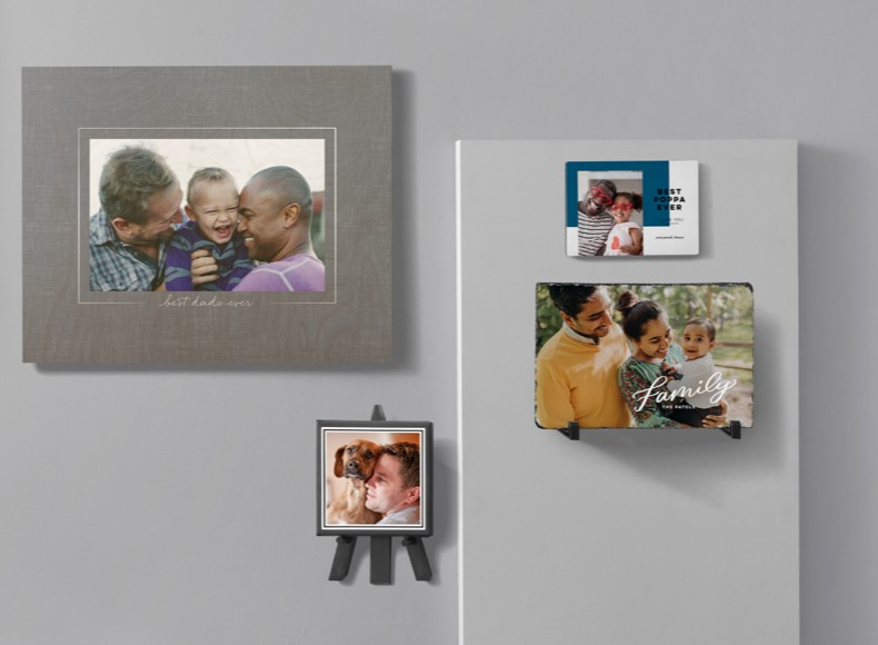Father's Day pictures and framed prints make thoughtful DIY gifts for dads.