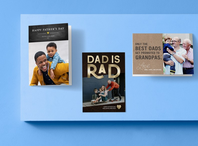 Happy Father's Day cards with photos will make him feel loved.