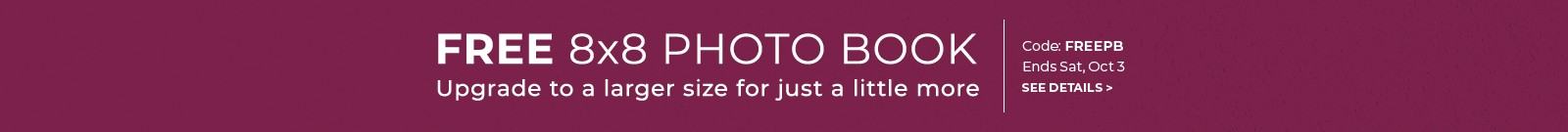 Free 8x8 Photo Book