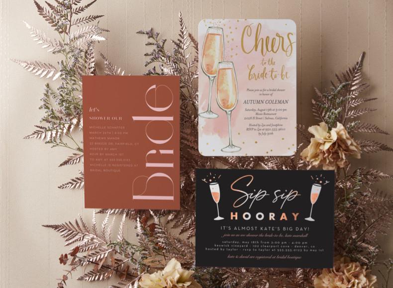 Send bridal shower invites or make custom bridal shower cards for her.