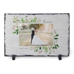 Framed prints of the bride and groom make thoughtful bridal shower gifts.