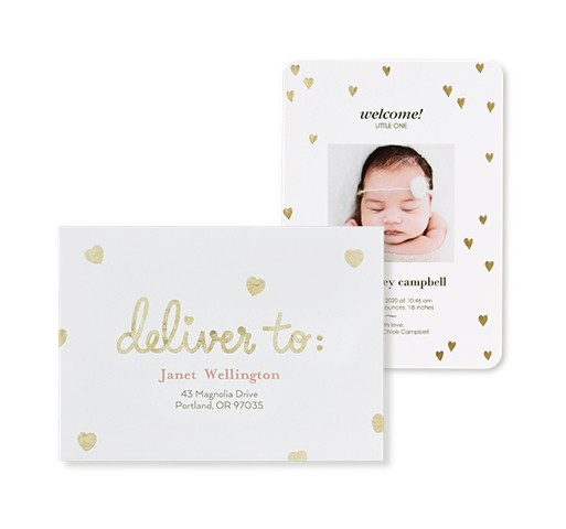 Tiny Sweetheart Design Birth Announcements