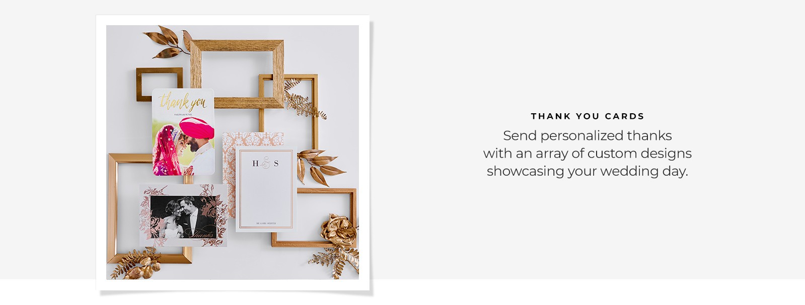 wedding thank you cards in a variety of styles