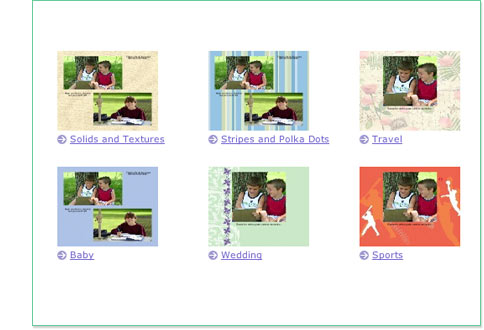 Select ANY occasion in Scrapbooking Page Size and click Get started